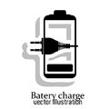 Battery icons over white background vector illustration Royalty Free Stock Image