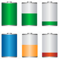 Battery icons set on the white background Royalty Free Stock Photography