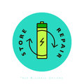 Battery linear trendy icon