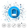 Battery low level sign icon. Electricity symbol. Royalty Free Stock Photo