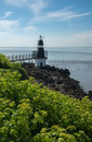 Battery point lighthouse portishead england also known as in somerset it helps sailors and ships Royalty Free Stock Images