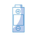 Battery power isolated icon