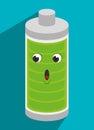 Battery recharging smartphone design graphic vector illustration Royalty Free Stock Photos
