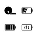 Battery. Simple Related Vector Icons