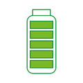 Battery supply isolated icon