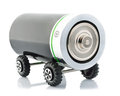 Battery wheels like car electric vehicle Stock Image