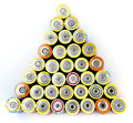 Batterys lots of batteries on white Royalty Free Stock Photos