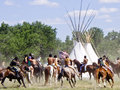 Battle of Bighorn reenactment Royalty Free Stock Images