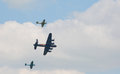 Battle of Britain flypast Royalty Free Stock Photo