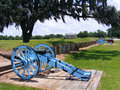 Battle of New Orleans Battlefield with Cannons and Plantation Home Royalty Free Stock Photo