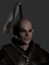 Battle Scarred Elf Warrior Portrait Stock Photos