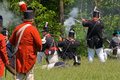 Battle scene during a War of 1812 re-enactment Stock Image