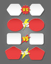 Battle versus labels in flat style