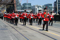 Battle of york commemoration parade toronto canada april marching band in the military in toronto that marks the th anniversary Royalty Free Stock Photo