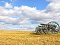 Battlefield Cannons Royalty Free Stock Photo