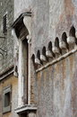 Battlements of saint angel castle in rome italy Royalty Free Stock Photos