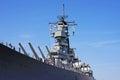 Battleship guns on a naval Royalty Free Stock Photo