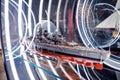 Battleship model inside the German Museum of Technology Royalty Free Stock Photo