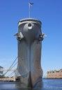Battleship moored in norfolk virginia Royalty Free Stock Images