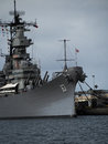 Battleship USS Missouri at Pearl Harbor Hawaii Royalty Free Stock Photo