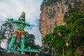 Batu Caves. Cave of Ramayana and the Hanuman statue. Kuala Lumpur Malaysia. Royalty Free Stock Photo