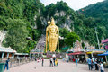 Batu caves the and the colossal statue of lord murugan photo taken december in kuala lumpur malaysia Stock Photos