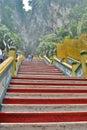 Batu Caves hindu temple stairs. Gombak, Selangor. Malaysia Royalty Free Stock Photo
