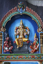 Batu caves hindu wall art malaysia colorwall panels depicting gods inside the in kuala lumpur Royalty Free Stock Image