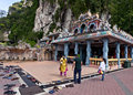 Batu caves at Kuala Lumpur - people goes to temple Royalty Free Stock Photo