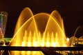 Batumi fountain show multimedia laser colorful musical in on seafront Royalty Free Stock Photography