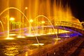Batumi fountain show multimedia laser colorful musical in singing fountains Stock Photos