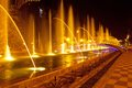 Batumi fountain show multimedia laser colorful musical in singing fountains Stock Photography
