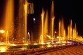 Batumi fountain show multimedia laser colorful musical in singing fountains Stock Image