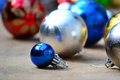 Baubles set of for christmas preparation Royalty Free Stock Image