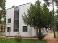 Bauhaus meisterhaeuser dessau germany june masters houses designed in for walter gropius laszlo moholy nagy lyonel feininger georg Royalty Free Stock Photos