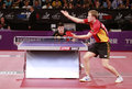 Baum patrick ger world ranking number celebrate during the liebherr world table tennis championships may may paris fra Stock Images