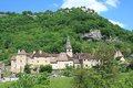 Baume les messieurs in the jura one of most beautiful villages of france located Royalty Free Stock Images