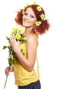 Bautiful smiling redhead ginger woman Royalty Free Stock Photo