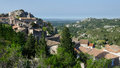 Baux de provence france panorama of typical village in the south of Stock Photography