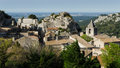 Baux de provence france panorama of typical village in the south of Royalty Free Stock Images