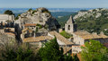 Baux de provence france panorama of typical village in the south of Stock Photos