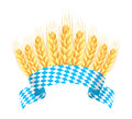 Bavaria banner with wheat ears Stock Photos