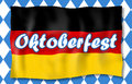 Bavaria german oktoberfest flag and flag Royalty Free Stock Photography