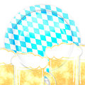 Bavaria oktoberfest creative symbol design Stock Photos