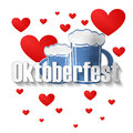 Bavaria oktoberfest with hearts creative fresh design Stock Photo