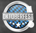 Bavaria oktoberfest round icon button Stock Photography