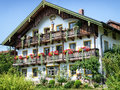 Bavaria typical old fashioned farmhouse in Royalty Free Stock Images