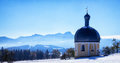 Bavaria wilparting small bavarian chapel and church near rosenheim Stock Photos
