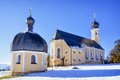 Bavaria wilparting small bavarian chapel and church near rosenheim Stock Photography