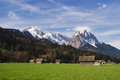 Bavarian alps rural landscape garmisch partenkirchen germany Royalty Free Stock Image